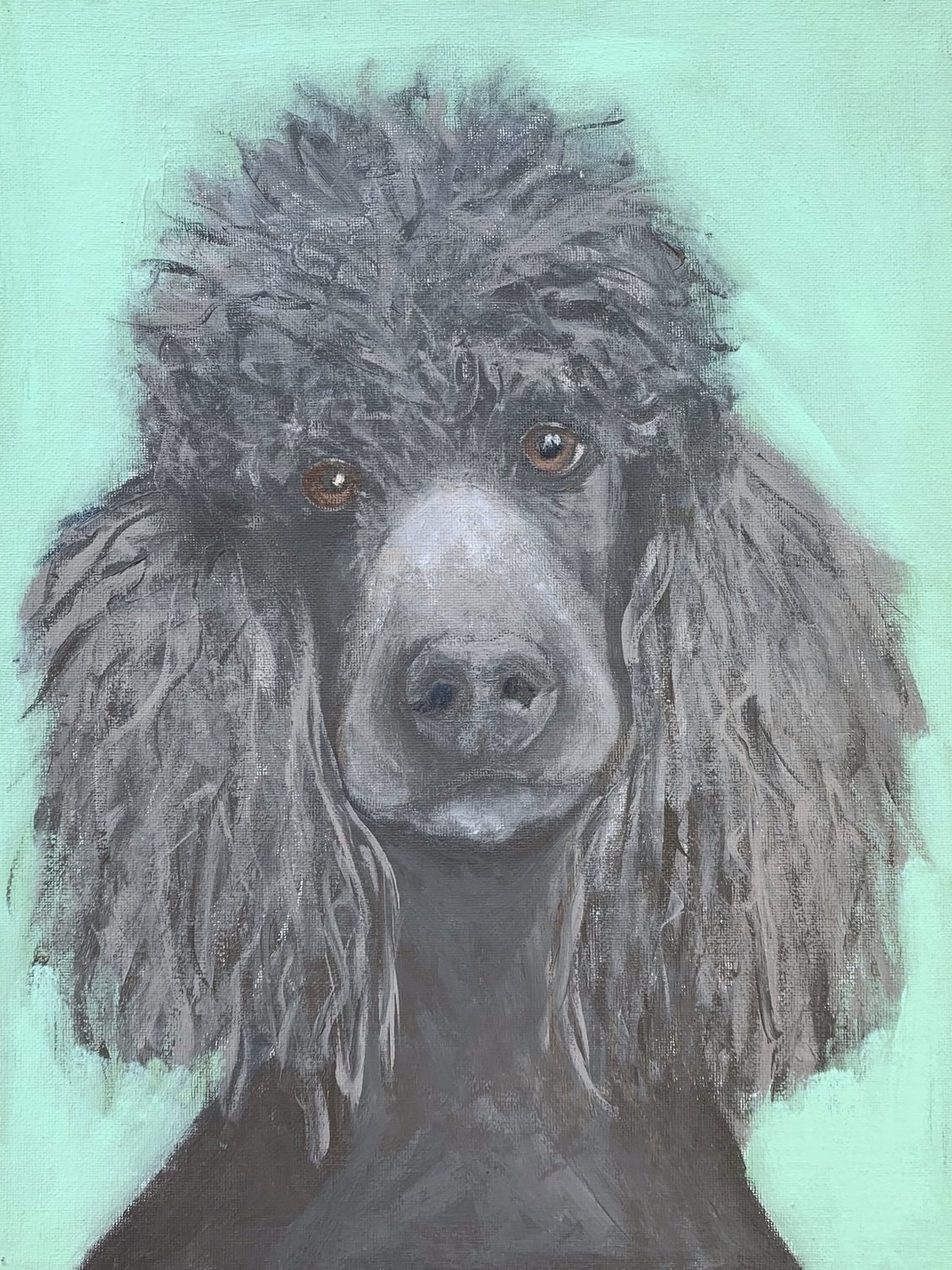 My Therapy Dog #11   Acrylic  12w 16h