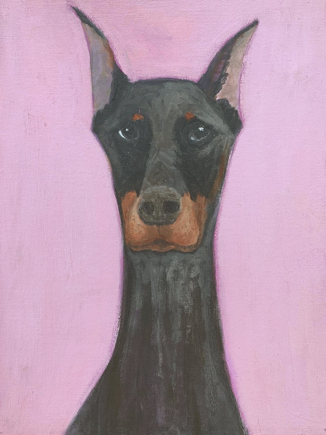 My Therapy Dog #10   Acrylic  12w 16h