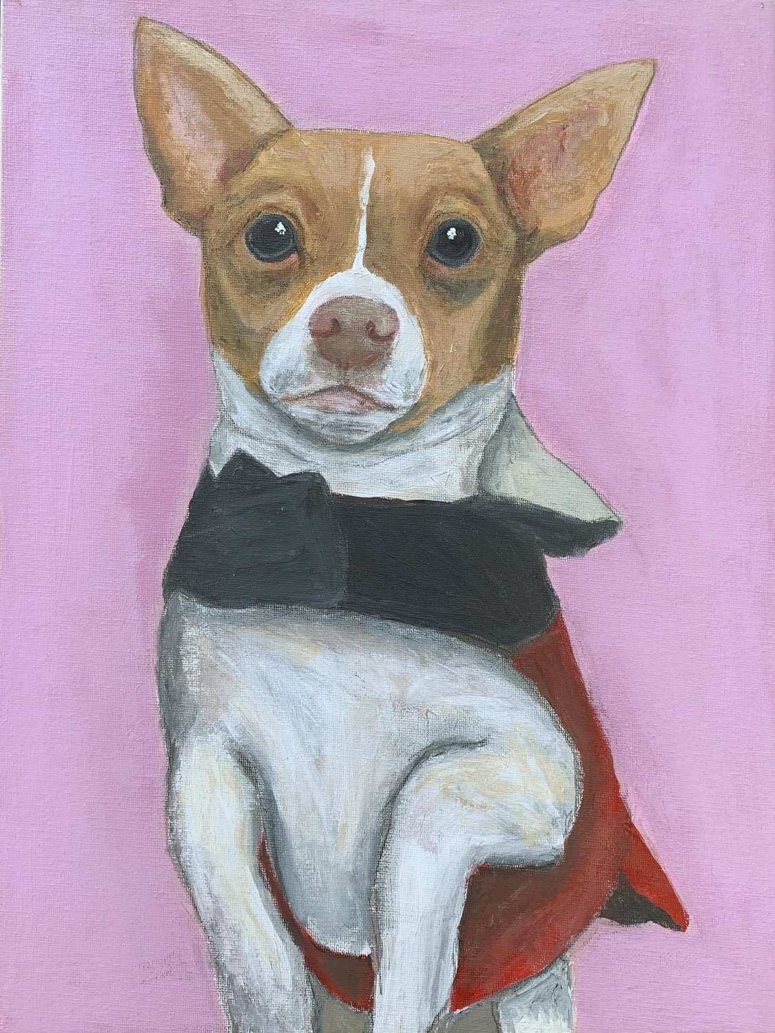 My Therapy Dog #6   Acrylic  12w 16h