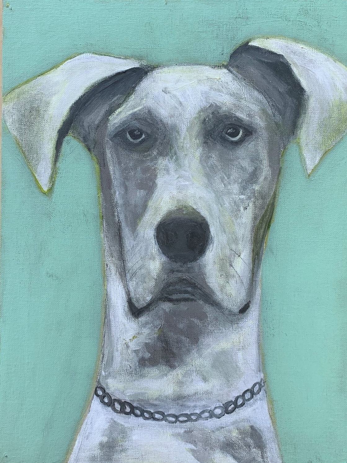 My Therapy Dog #7   Acrylic  12w 16h