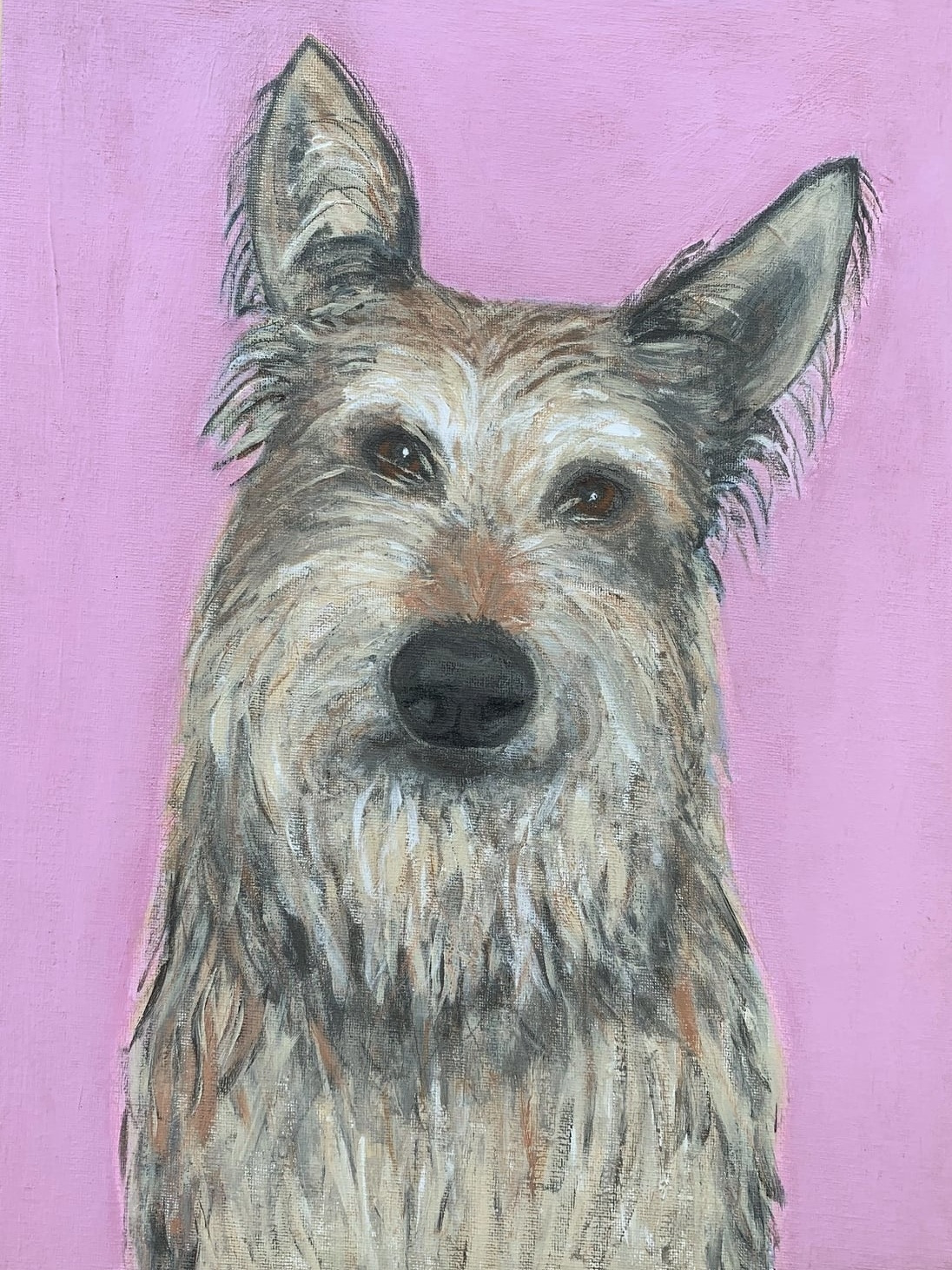 My Therapy Dog #14   Acrylic  12w 16h