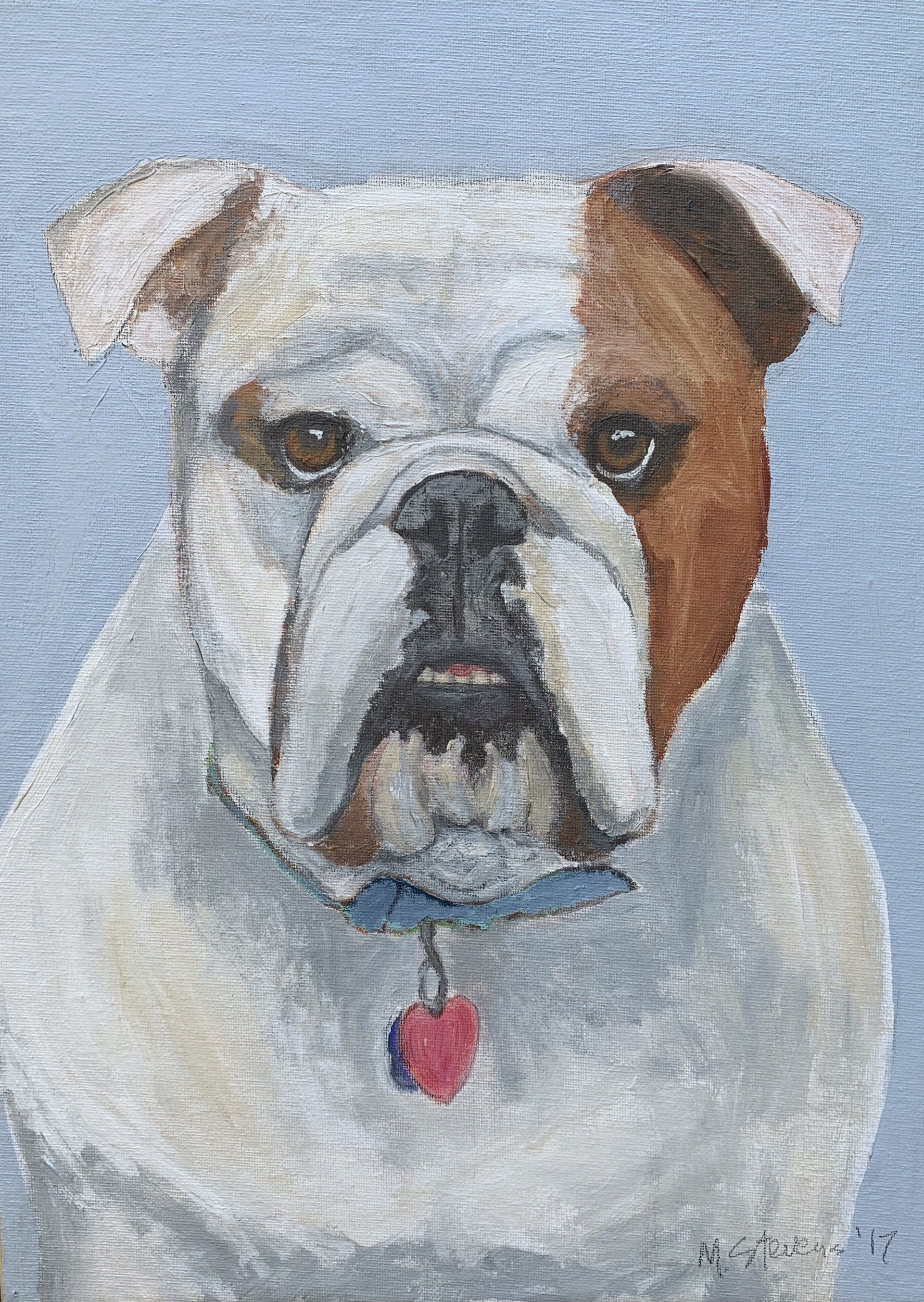 My Therapy Dog #15   Acrylic  12w 16h