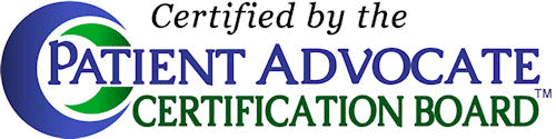 Certified by the Patient advocate Certification Board
