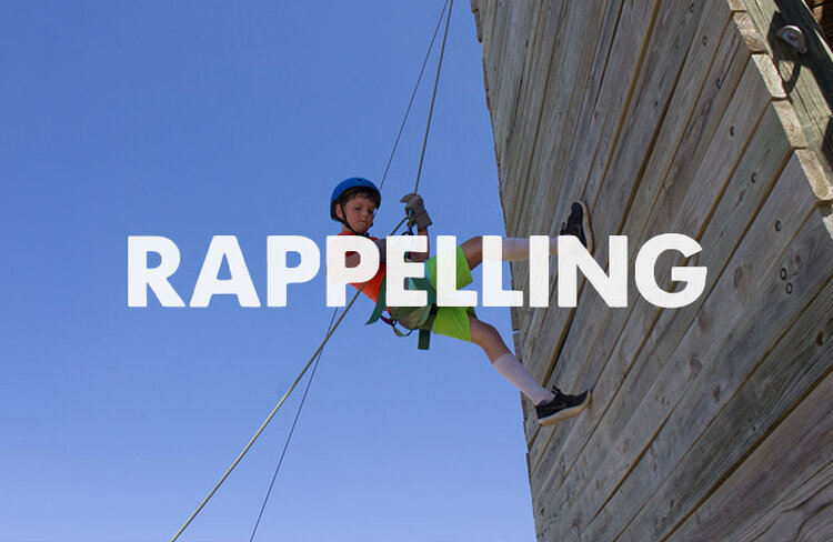 Enjoy the view from the top of the tower before rappelling back down! Campers also have the opportunity for an 85-foot cliff rappel down into the canyon!
