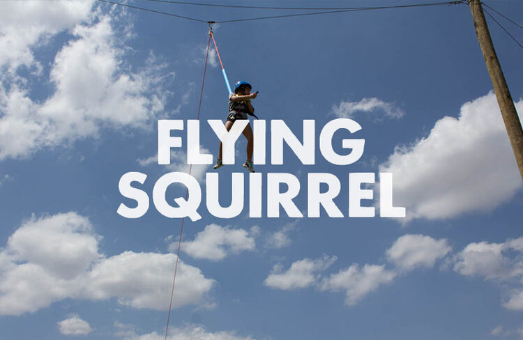 The Flying Squirrel is our newest activity. Grab 5 of your friends and send each other flying. Don't forget to take in the view from up there!