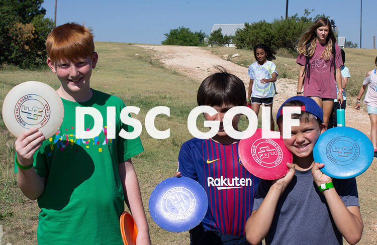 Everyone loves a round of Hidden Falls Disc Golf. Our 9-hole course is perfect for any age.