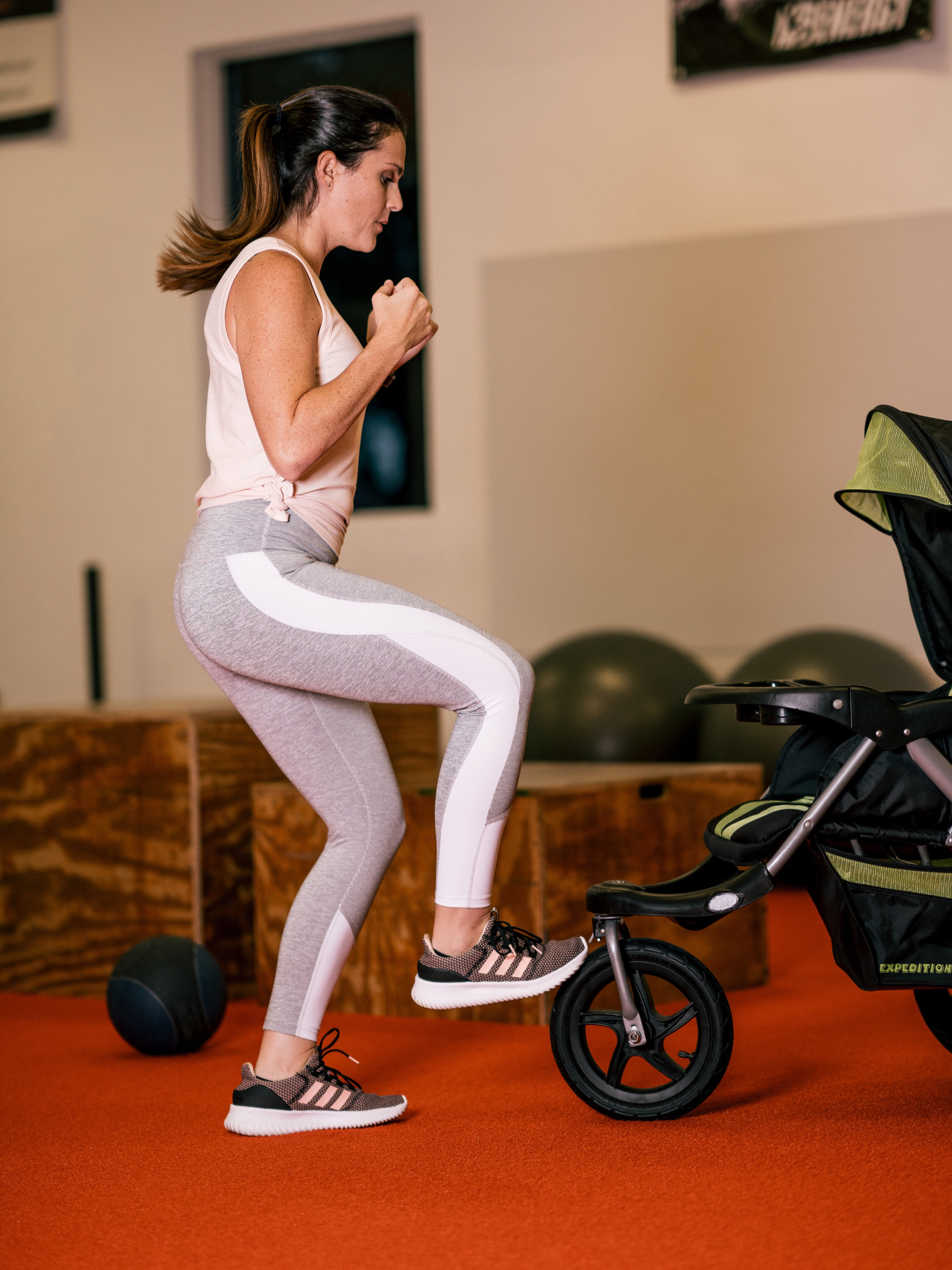 Modifications offered to fit all mamas' needs - We offer low and high impact classes. All classes offer different modifications in order for all mamas to be comfortable at their own level of fitness.Learn more ➝