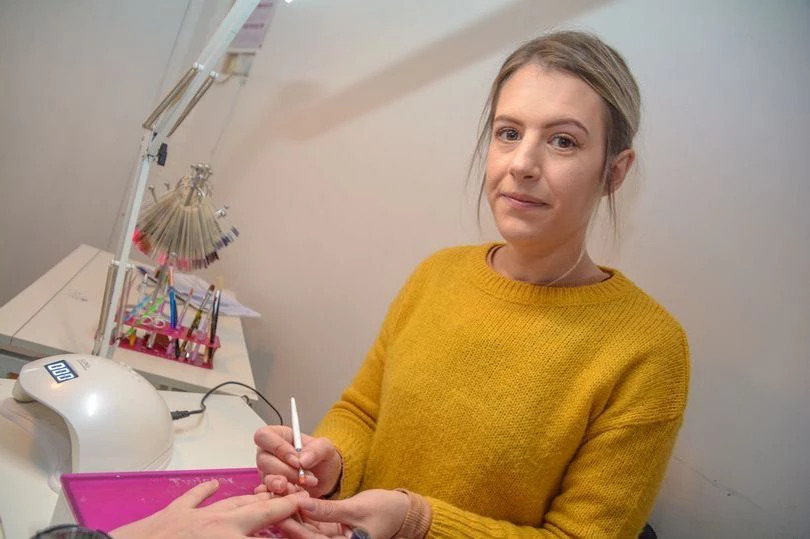 (Image: Lewis Clarke) Mother of one, Zara Nichols, 32, runs Nail Envy, from her council house on Ford Road in Tiverton since January 2017.