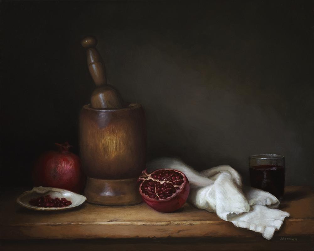 Pomegranate still life.png