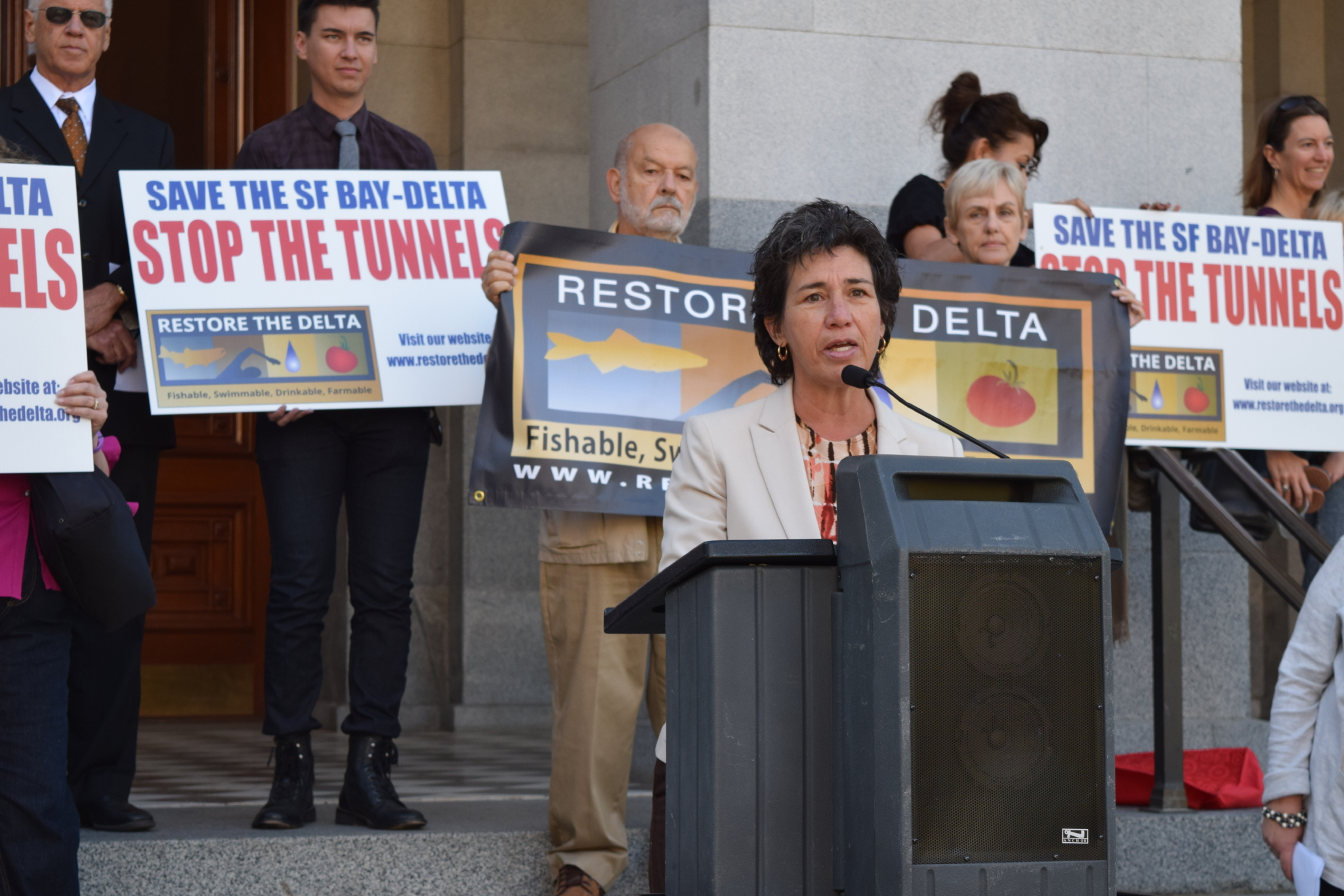 Susan has fought against proposals to build a tunnel system through the San Joaquin Delta, that would leave a lasting negative impact on our environment and send limited water resources south.