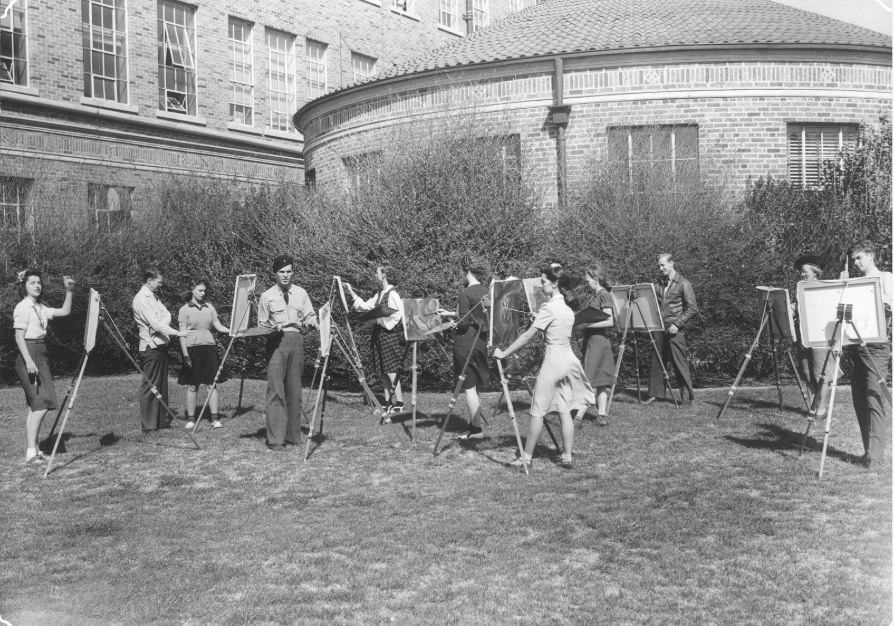 The Arlington Art Association, founded in 1952. Courtesy of University of Texas at Arlington Special Collections.