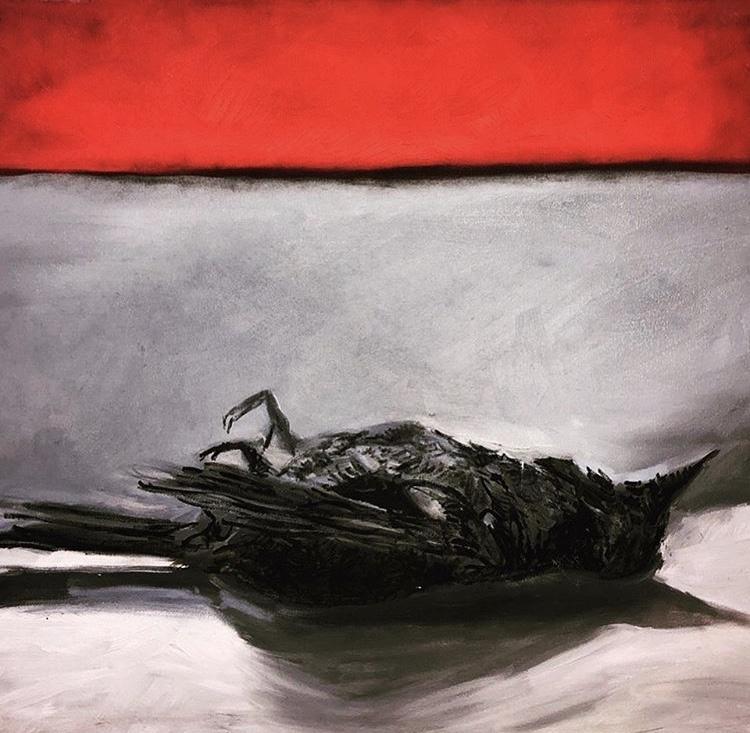 Dead Swallow by Rachel Barminski Bounds, oil on canvas