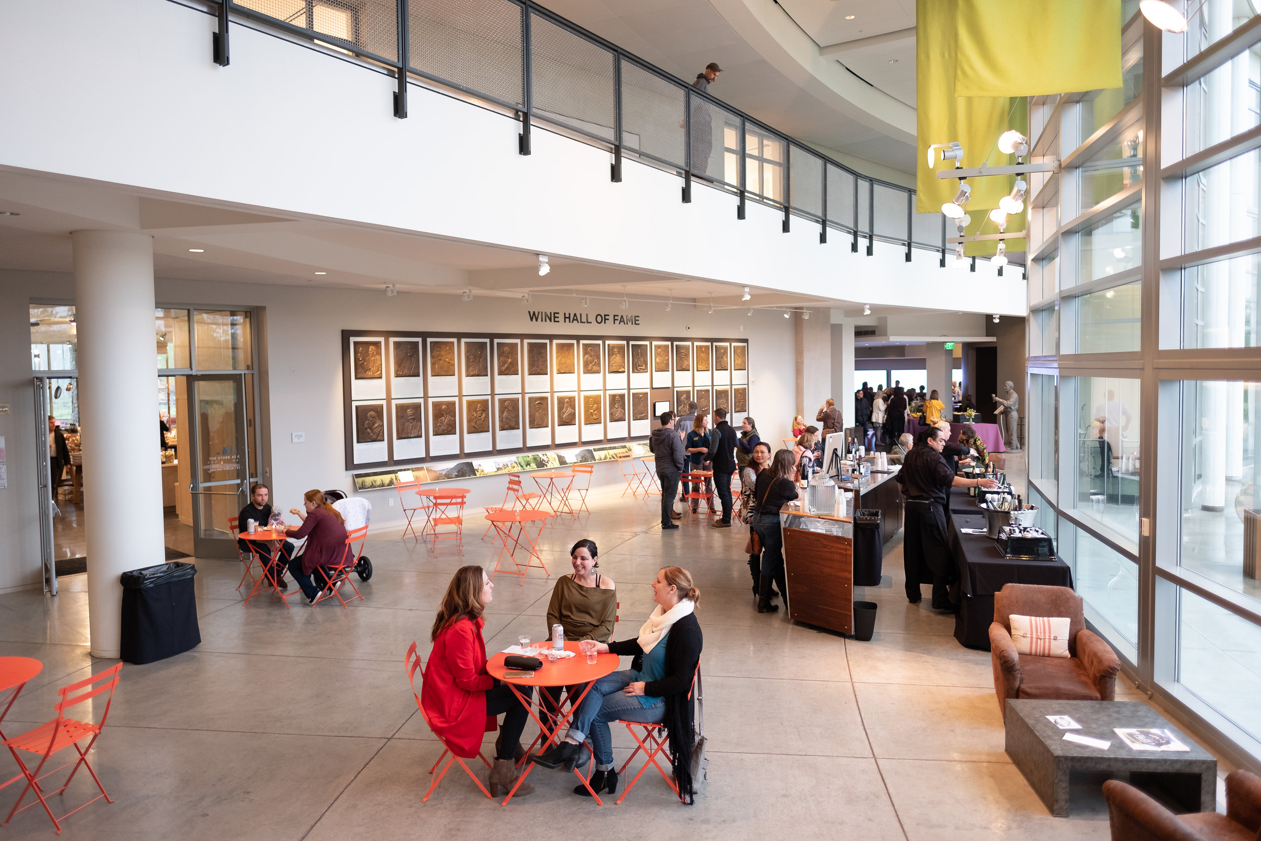 The first floor lobby at The Culinary Institute of America at Copia