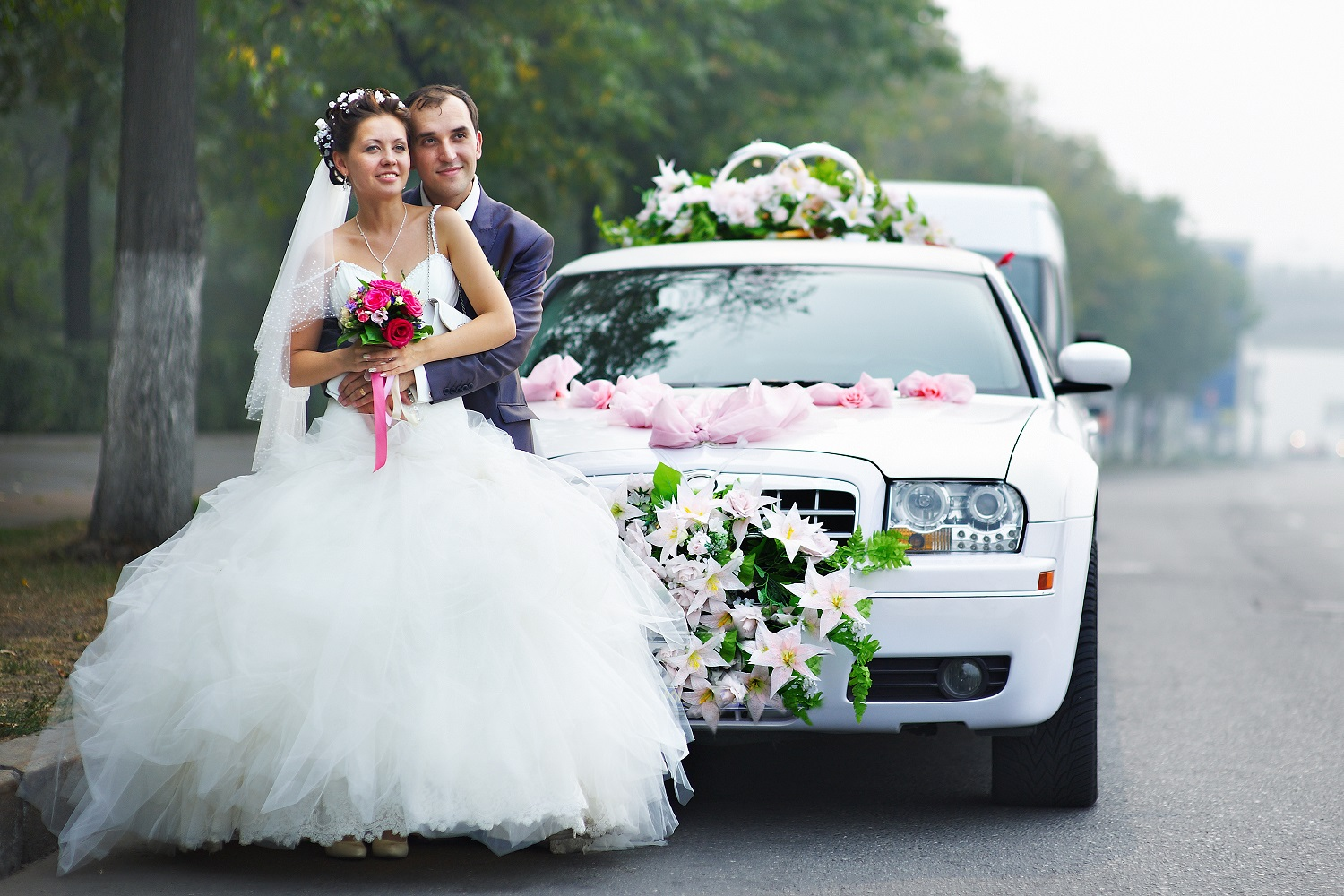 Travel In Luxury - You will travel in our luxury stretch wedding limousine and We roll out the red carpet after the ceremony.