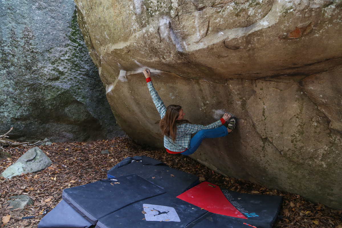 Biggie Shorty (V10), Little Rock City, TN. © Angie Payne