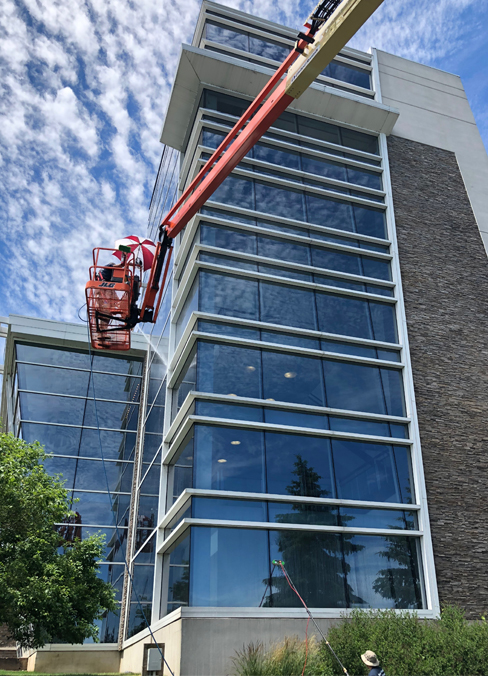 Business/Commercial - Whether a municipality, school, storefront, car dealership, restaurant or high-rise, we have the equipment and staffing to complete the project.
