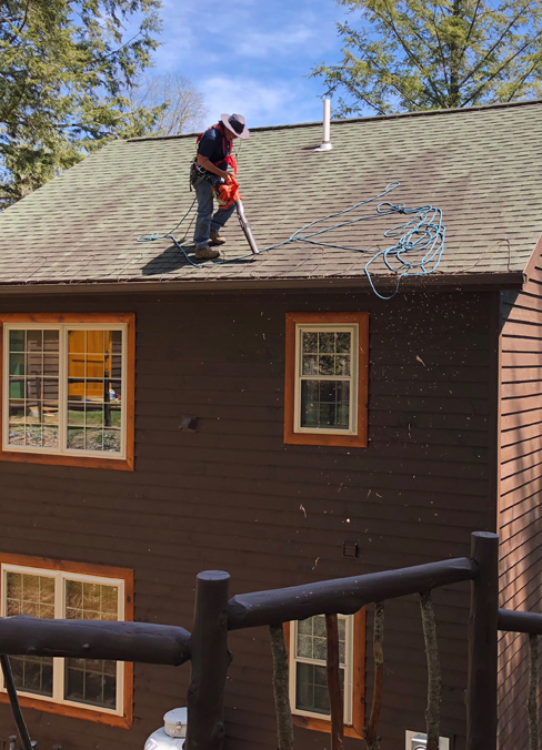 ROOF CLEANING - One of the best ways to increase the life of your shingles and gutter system. Our process uses a soft washing method incorporating naturally based detergents and solutions.