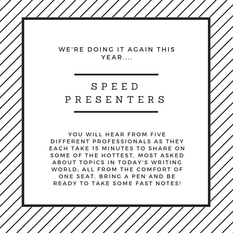 Speed Presenters - Six Different Presenters.Six Different Topics.