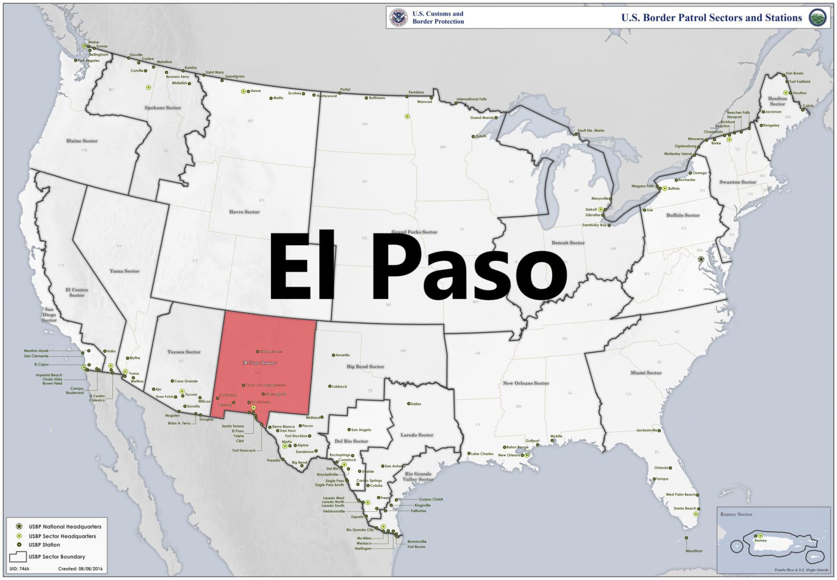 Border patrol sectors map - El Paso.png