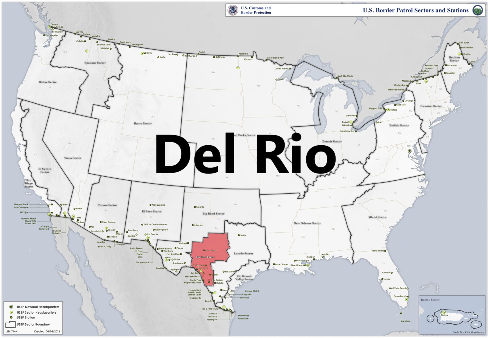 Border patrol sectors map - Del Rio.png