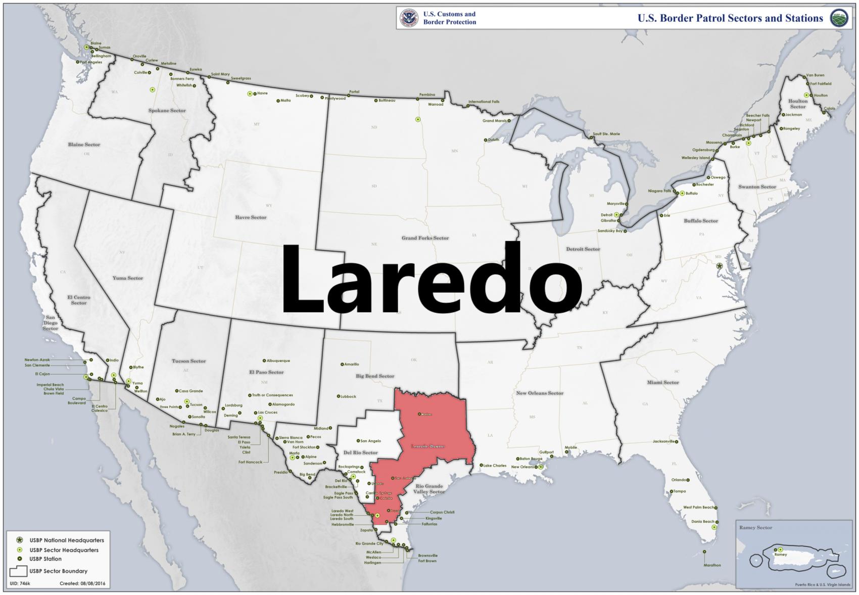 Border patrol sectors map - Laredo.png