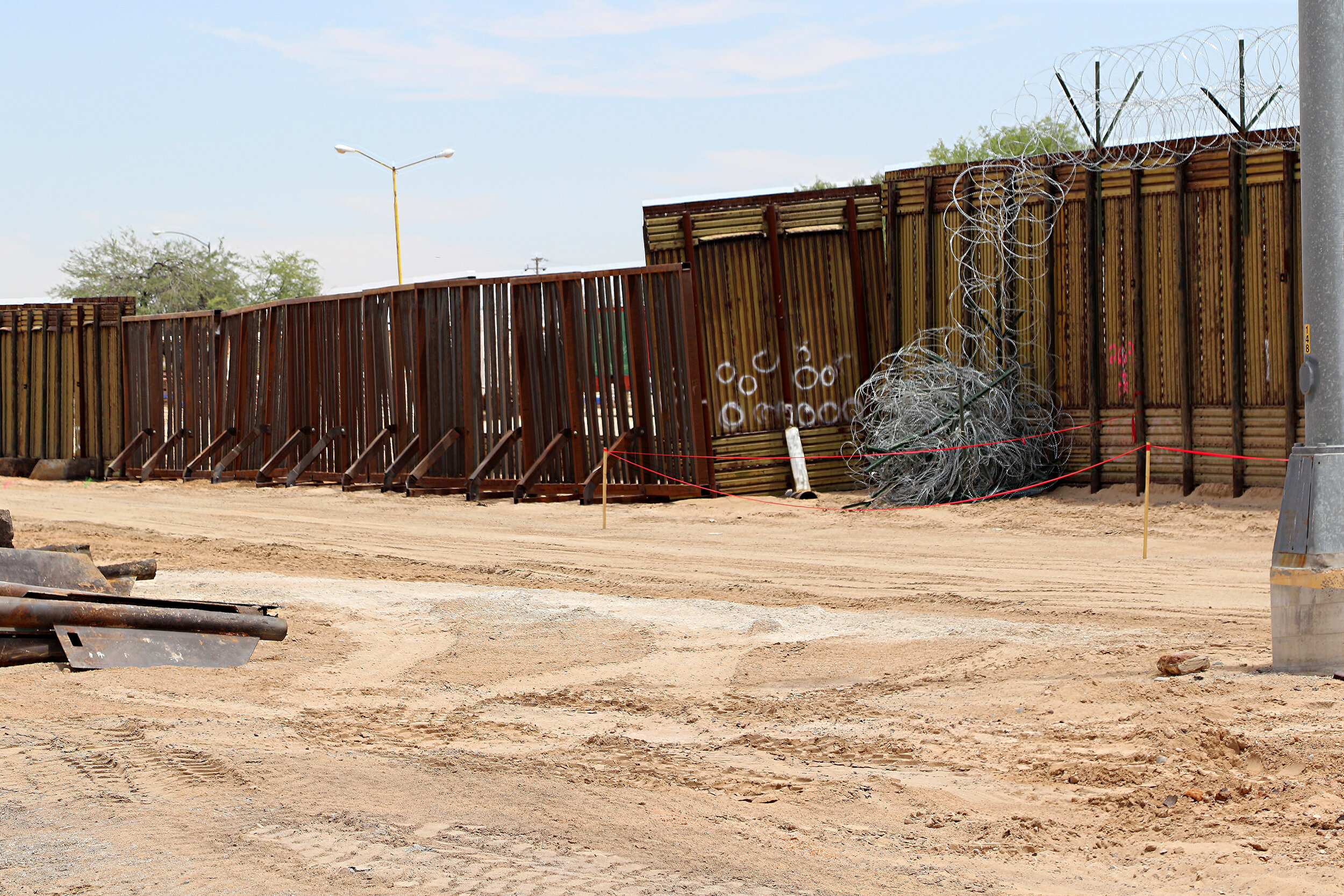 An example of the old Pedestrian fencing before the construction of Trump's wall in the Yuma sector