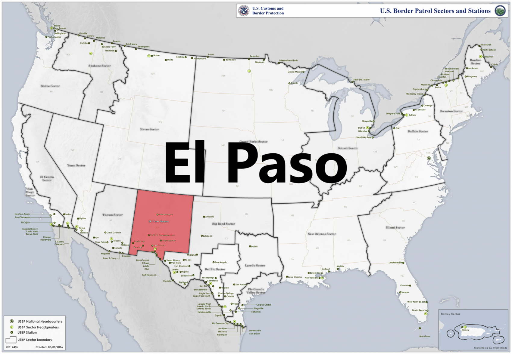 Border patrol sectors map - El Paso.png