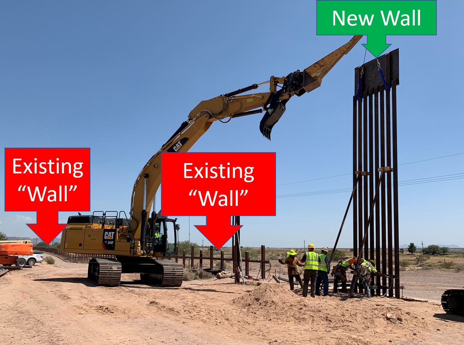 New Pedestrian Wall Replacing Existing Vehicle Wall -