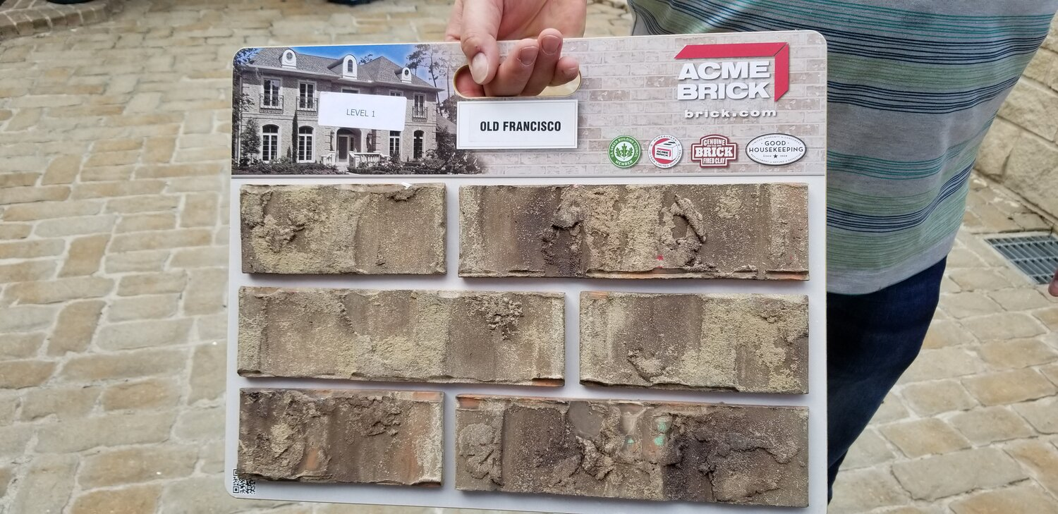 Brick Selection Process Our Plaza House