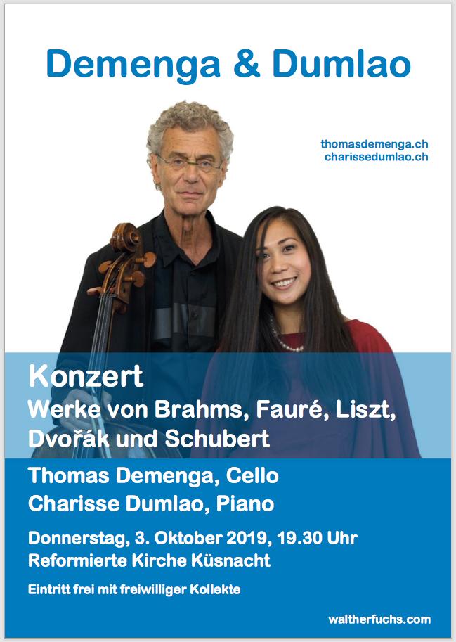 Flyer Konzert Demenga & Dumlao