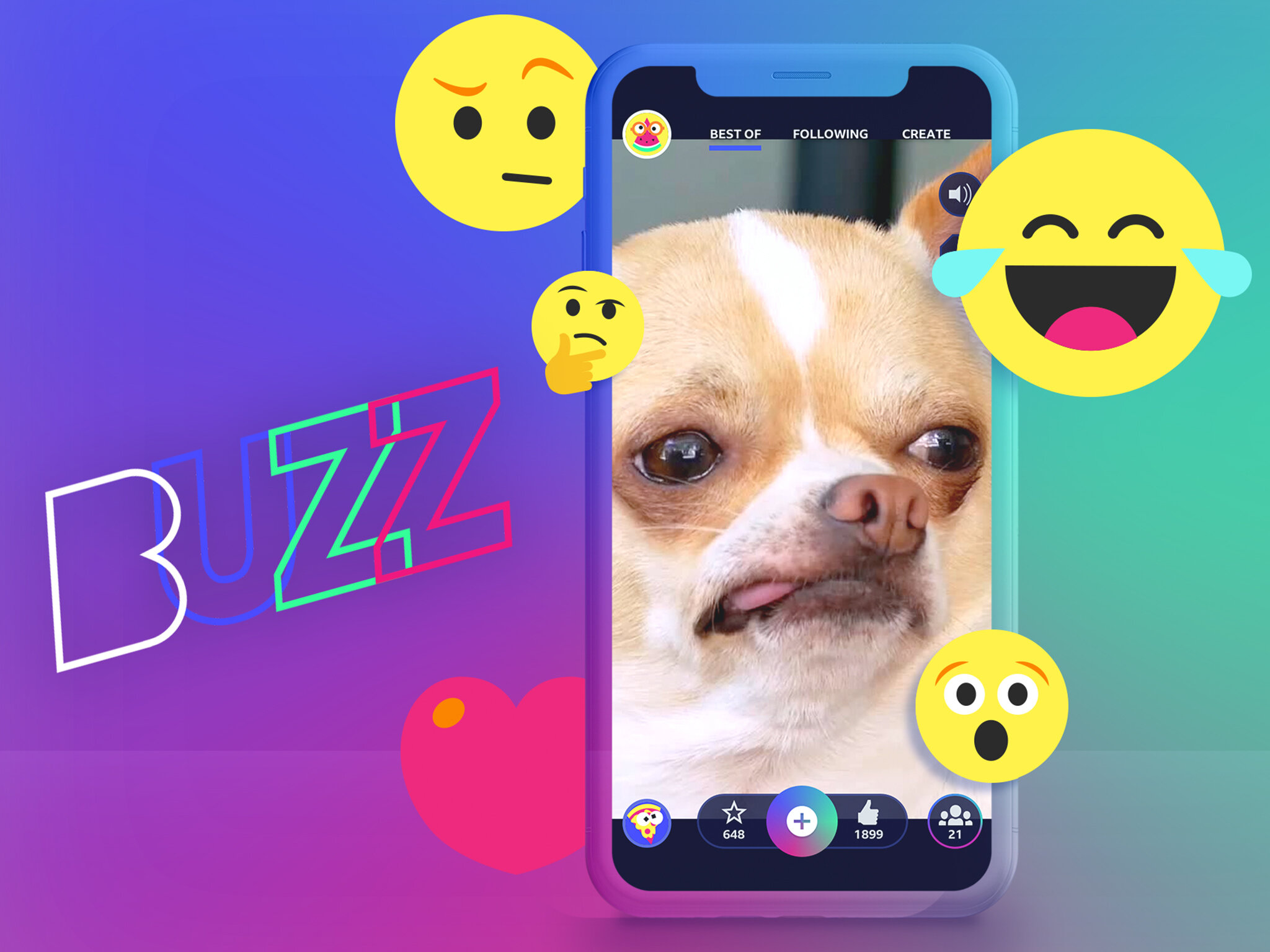 BBC Buzz - Buzz is a safe and fun creative social app for children. Created for the BBC from Chunk's social platform, Spot, children can create videos, drawings, memes, lipsyncs and overdubs and share them with friends and followers—all moderated by parents and the BBC.