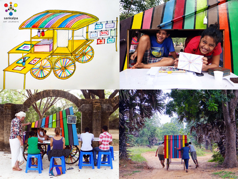 Community Art Cart - Visit the Art Cart every Friday morning from 10 to 12 at the Visitor's Center stage in Auroville, south India! You can check the Sankalpa FB page for updates to confirm availability. No need to register, open to all, just come!