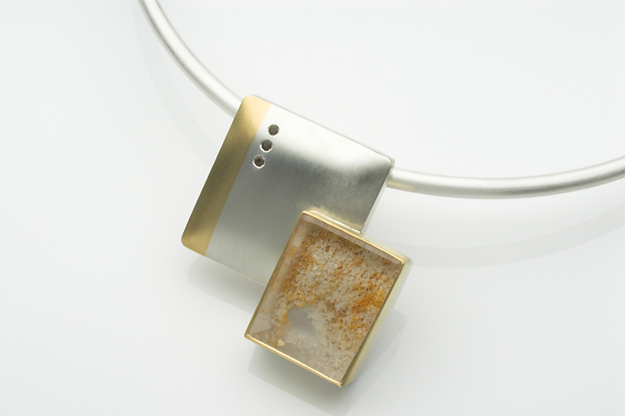 Square Quartz pendant