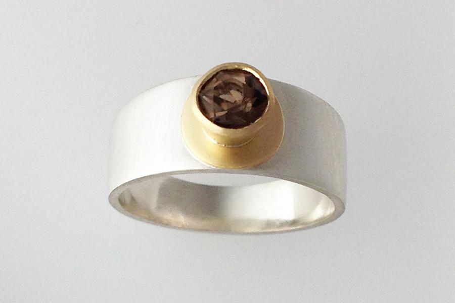 Small smoky quartz ring