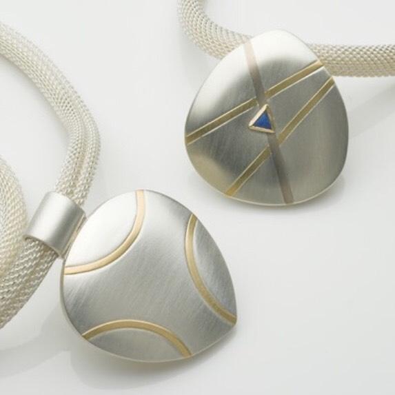 2 pendants ready for #goldsmithsfair2019 #pendants #silverandgold #oneofakind #jewellery #londonjewellerydesigner