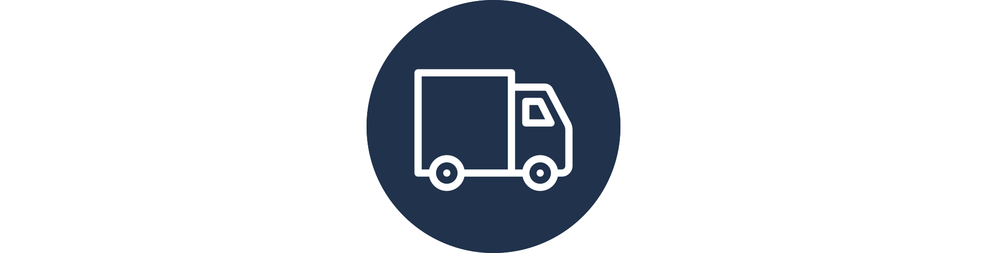 A delivery truck icon