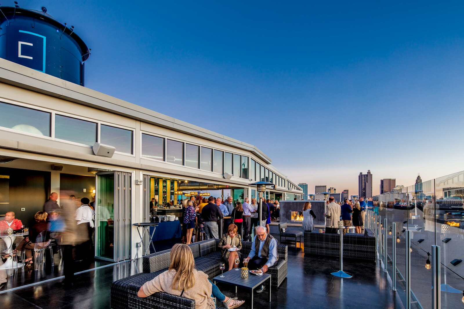Landmark Building with the   best rooftop view of Columbus    View Project