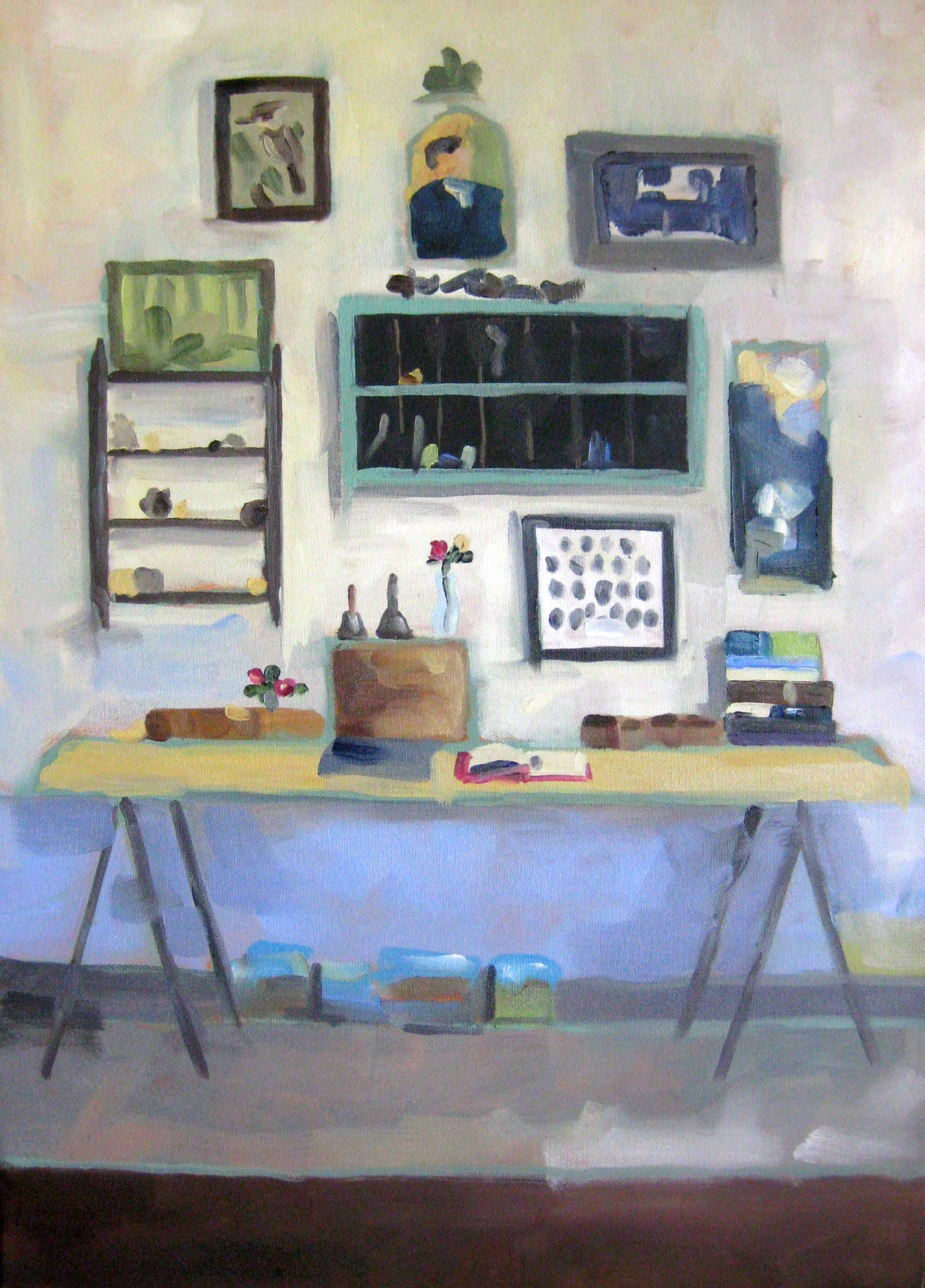 "RUPERT'S DESK oil on canvas 20"" x 28"" 2014"