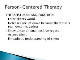- Person-Centered Therapy
