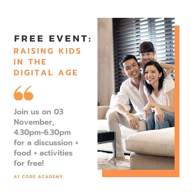 Every parent wants to raise a well-rounded, conscientious, and intelligent child. Join us at this event to learn more! (FREE CLOSED-DOOR EVENT! LINK IN INSTAGRAM BIO!) ⭐️ 03 Nov (Sunday) @ 4.30-6.30PM // Esplanade (@room2f) ⭐️ Expect activities, goodie bags, a chance to network with influential mothers such as @mixuewr and @sgsupernanny 😍  Meet & greet leading educators from @a1codeacademy , @muzarteast and @artisticstrategiesacademy 🥰 ⭐️ Food will be provided at the venue as well, proudly catered by @neogardencatering ⭐️ Child-friendly venue @room2f ‼️ Please note: Only register if you are able to attend as seats are limited! Parents who register and fail to turn up will be rejected from future free events.  #sgparent #sgparents #sgparentsblogger #sgparentsbloggers #sgevents #sgworkshops #sgkids #sgmom #sgmum #sgmummies #mummysg #sgmotherhood #sgmother #sgkid #sgkidsparty #sgdad #kiasuparents