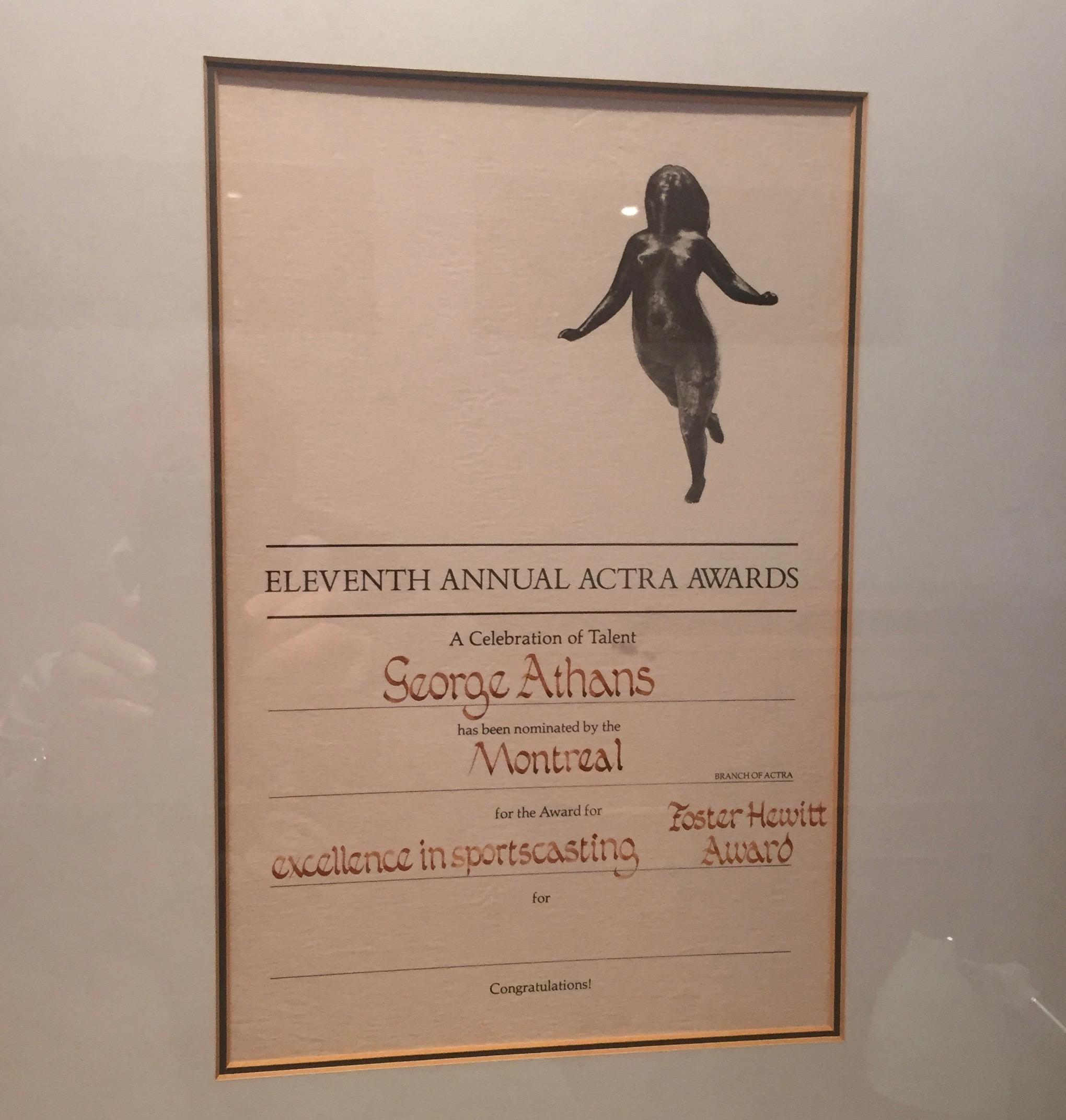 ACTRA Nomination