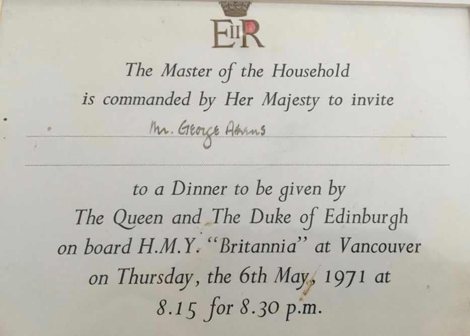 Invitation to Dinner with Queen