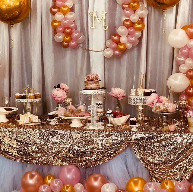 The Glitz & Glam for a 1st Birthday ✨ . . Designer: @proprepeventz  Desserts: @michemiche1818  Balloons: @partyfiesta  #ProPrepEvents #EventPlanner #EventDesigner #PartyRental #BayArea #BayAreaEventPlanning #PartyRentals  #KidsParties #Wedding #Celebration #Love #Celebrate #Fiesta #Fiestas #Party #PartyPlanner #EventDesigning #SpecialtyLinen #CustomEvents #Amor #BayAreaEvents #MorganHill