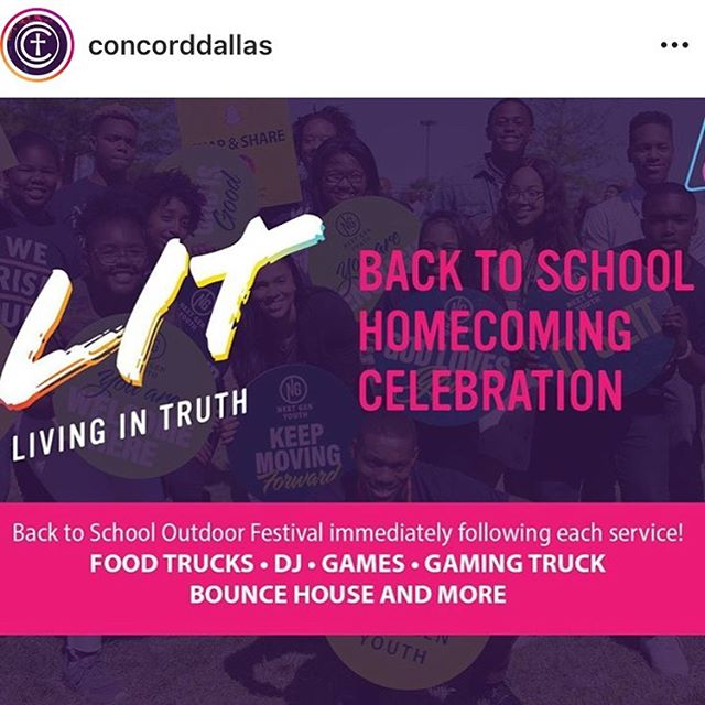 Guess who's food truck will be at Back To School Sunday at @concorddallas ??? 😋🤗😏 The @gourmetbreadpudding food truck will present during all three services!! Come see us!