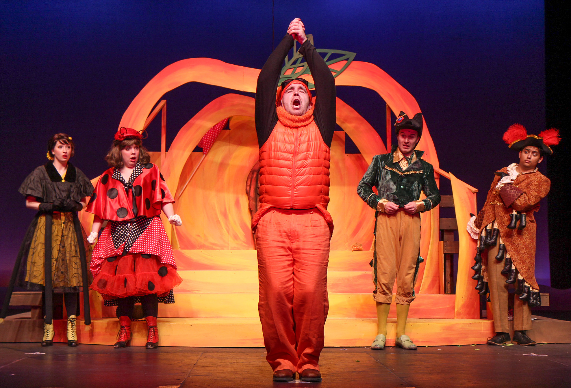 photo by Beth Curley/Julian Wiles   James and the Giant Peach , 2017  playing Earthworm