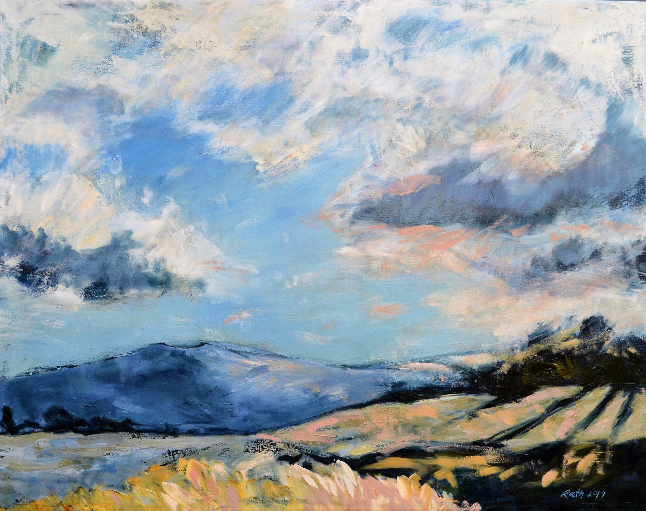 evening light on teddys hill oil on canvas 90 x 120 cm.JPG
