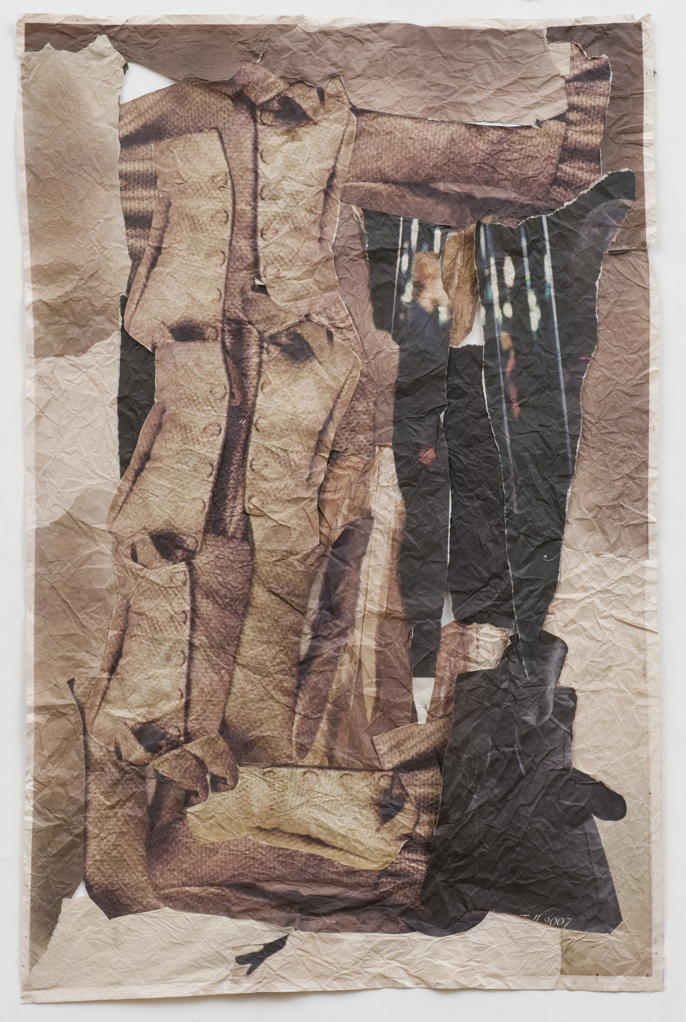 To Deny The Feeling Scared , 2008 Newspaper, glue 42 x 34 inches