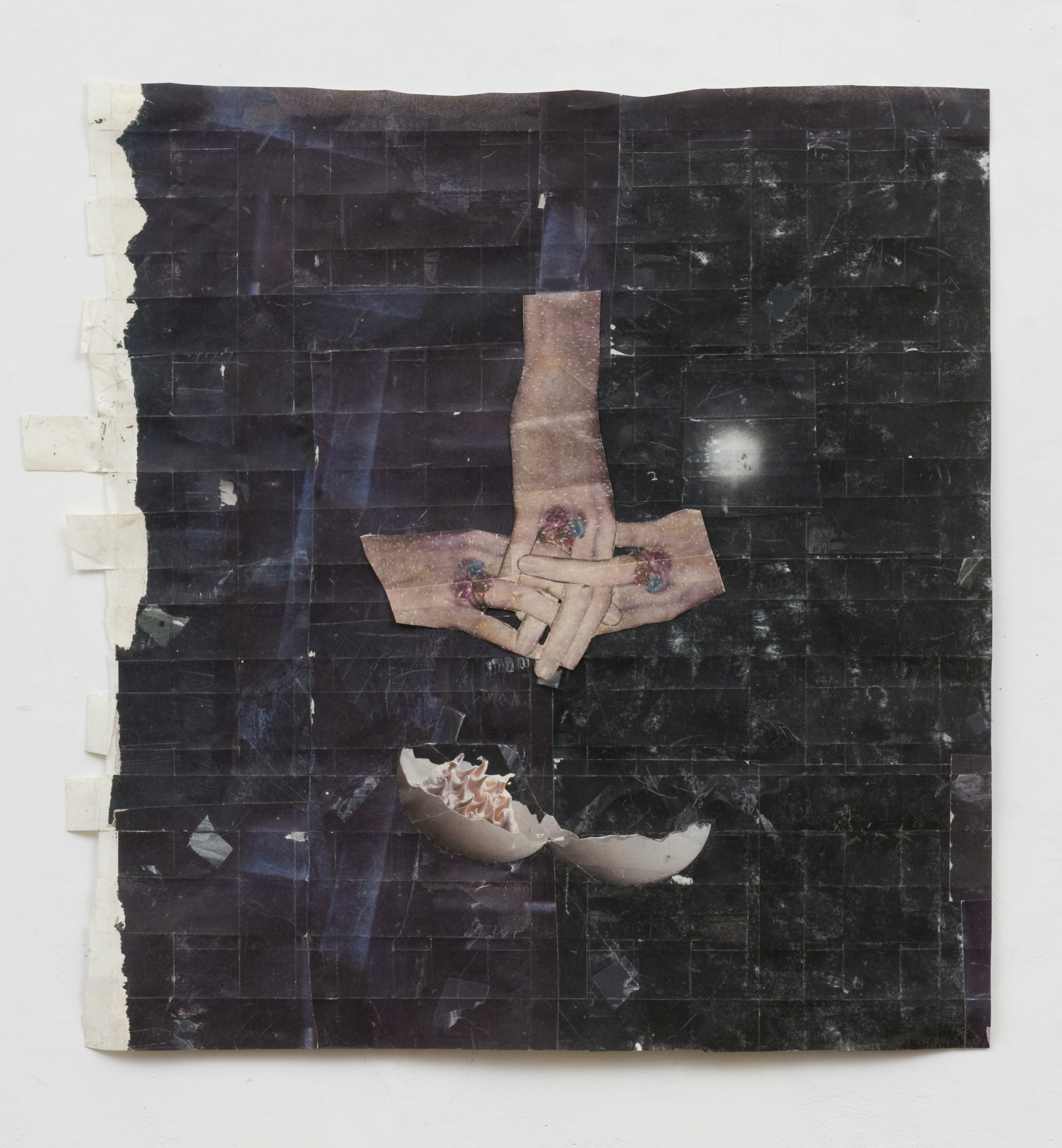 How Here is Here? , 2008 Magazine transferred onto tape, collage 17.5 x 16.5 inches
