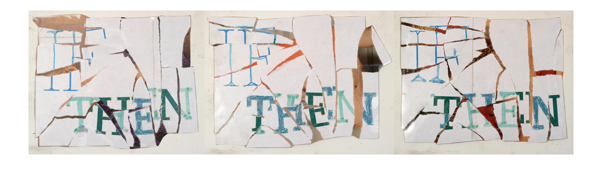 Condition True or False , 2010 Newsprint, paper, color pencil, watercolor, inkjet print, acetate Approximately 8.5 x 11 inches each