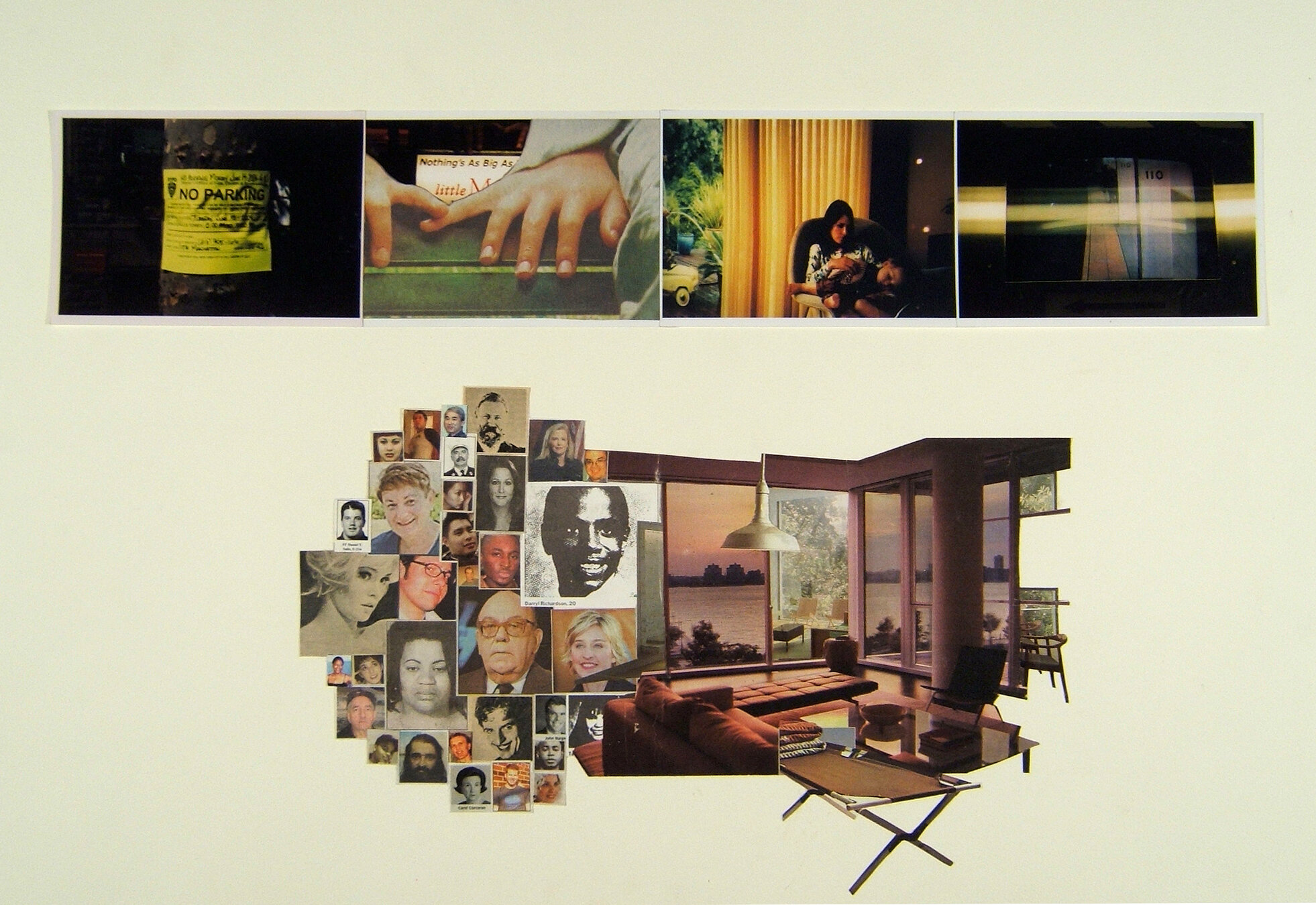 Little Manhattan,  2005 Collage 16 x 24 inches